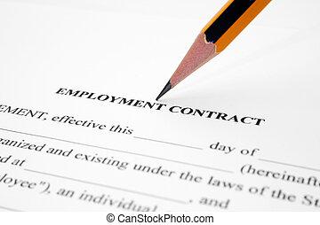 Anstellung Vertrag Unterzeichnung Dokumente Anstellung Alles