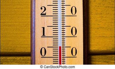 anstiege, timelapse, temperatur, thermometer.