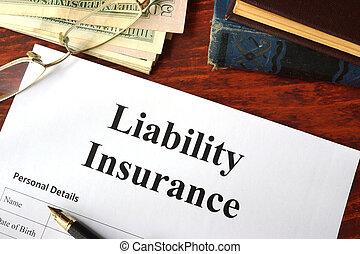 ansvar, forsikring