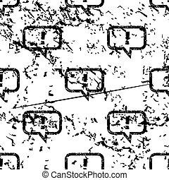 Answer message pattern, grunge, monochrome