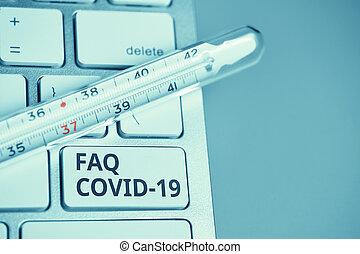 Answers and questions concept FAQ COVID-19 symptoms