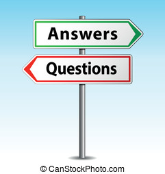 Answers and questions signs