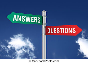 answers questions road sign