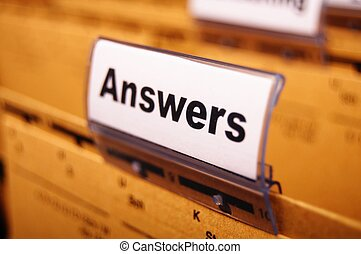 answers word on register or hanging folder showing solution...