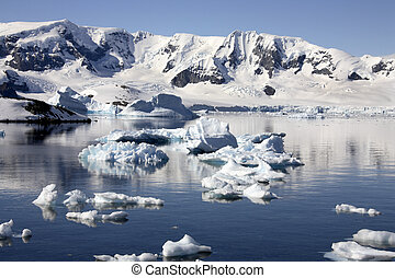 antárctico, península, em, antártica