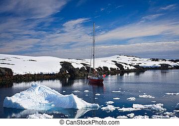 antártica, iate