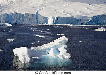antártica, paraisos , -, baía