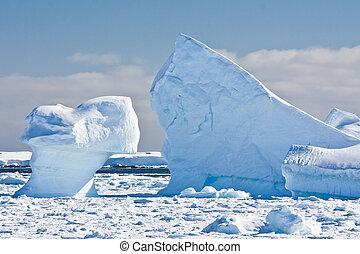 antártico, glaciares