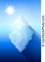 antártida, iceberg, ilustración