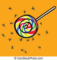 ant and lollipop