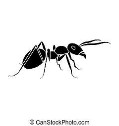 Ant black color icon .