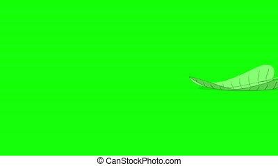 Ant carries a green leaf. Animated Motion Graphic with Alpha Channel.