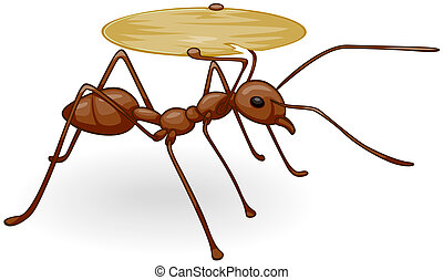 Ant Carrying Tray - Ant Carrying Empty Tray with Clipping...