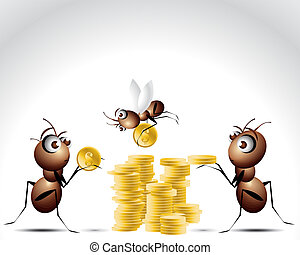 Ant Character - Antic Ant Character, cartoon Illustration.