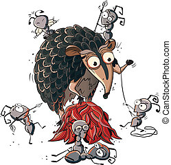 ant-eater, caricatura