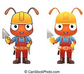 Ant Engineer cartoon character