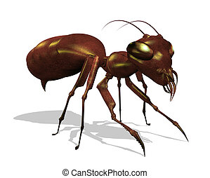 Ant - Extreme Close Up - An extreme close up of an ant - 3d...