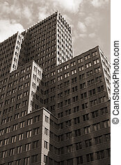 Ant hill - This skyscraper is photographed in the center of...