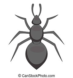 Ant icon, cartoon style