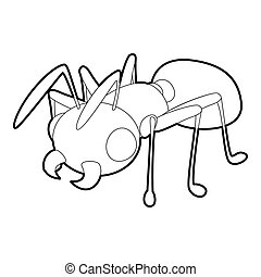 Ant icon, outline style