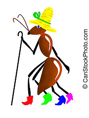 ant in hat