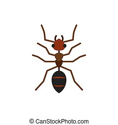 Ant insect animal single flat color vector icon