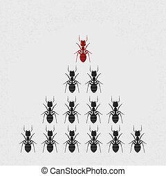 Ant leader , eps10 vector format