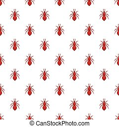 Ant pattern, cartoon style