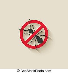 ant warning sign