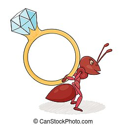 ant with big ring