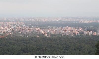 Antalya view - city harbor of Alanya at dawn, Antalya,...