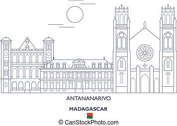 Antananarivo City Skyline, Madagascar - Antananarivo Linear...