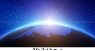 Antarctic aero space view. Elements of this image furnished...