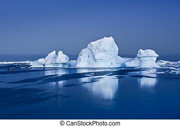 Antarctic Glacier in the snow