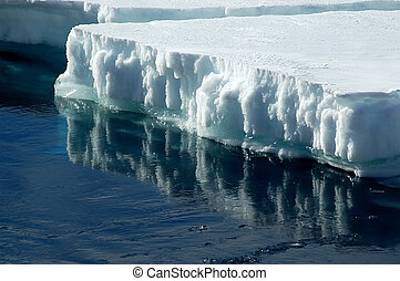 Antarctic ice floe