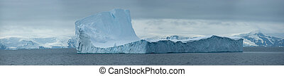 Antarctic ice island