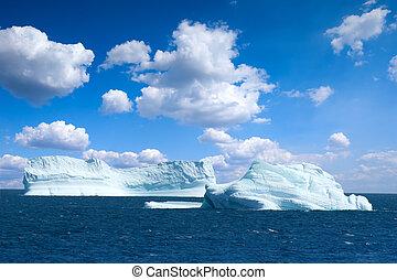 Antarctic ice island