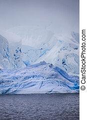 Antarctic Iceberg - Stock Photo of Iceberg from lower...