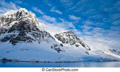 Antarctic Nature: snow-capped mountains - Antarctic Nature....