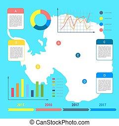 antarctic south pole map antarctica infographics set