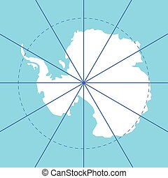 antarctic south pole map antarctica land
