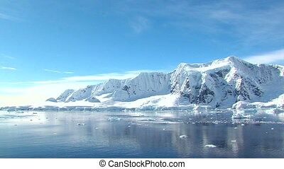 antarctic sunny landscape