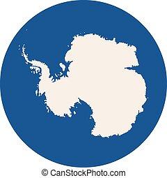 antarctica, continent, pictogram, vector, achtergrond