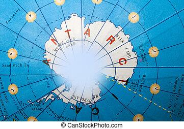 Antarctica of the globe.