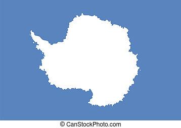 antarctica continent region unofficial flag computer generated