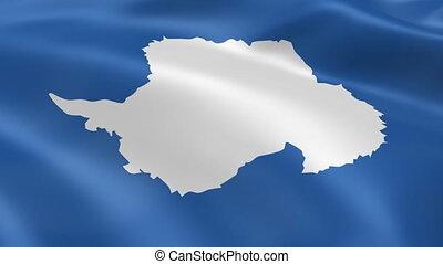 Antarctica flag in the wind