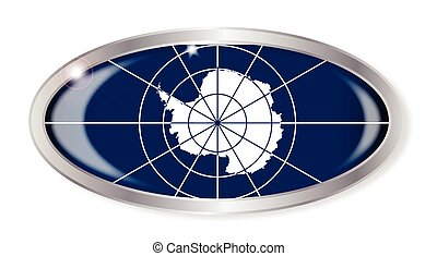 Antarctica Flag Oval Button