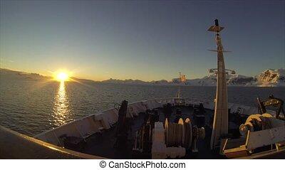 antarctica from a ship