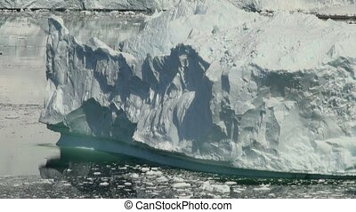 Antarctica - Shapes And Textures Of Icebergs - Closeup