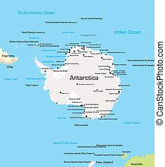 Antarctica Map - color Map of Antarctica